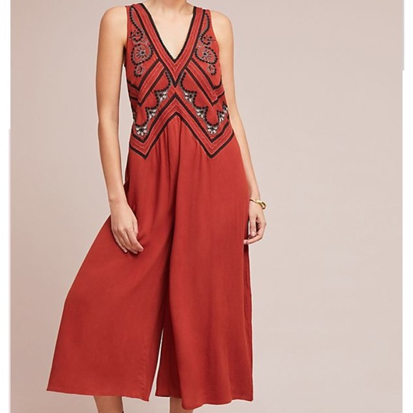 e3a55542f5b Anthropologie Pants - New MAEVE Anthro Desert Embroidered Jumpsuit